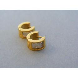 Dámske náušnice kruhy ch. oceľ kamienok DAO365 316L 3.65g