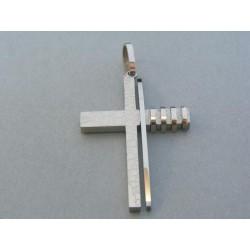 Prívesok krížik ch. oceľ DIKO1064 316L 10.64g