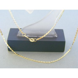 Zlatá retiazka žlté zlato platničky VR425261Z 14 karátov 585/1000 2.61g