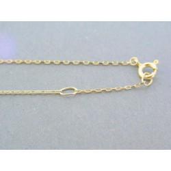 Zlatá dámska retiazka s príveskom žlté zlato kamienky DR43238Z 14 karátov 585/1000 2.38g