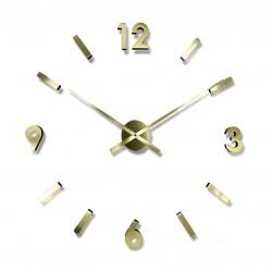 Nálepovacie nástenné hodiny zlate JVD HW53.7