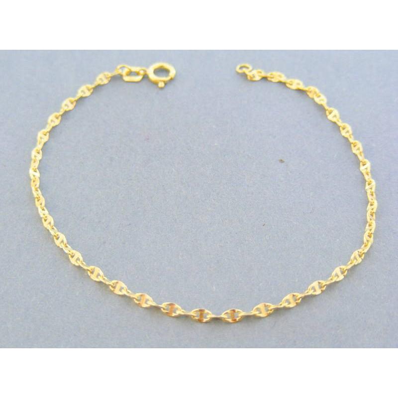 4352f8ae8 ... náramky»Zlatý náramok zdobený žlté zlato DN18080Z 14 karátov 585/1000  0.80g. Loading zoom