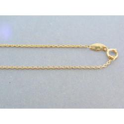 Zlatá dámska retiazka s príveskom kamienky žlté zlato VR42238Z 14 karátov 585/1000 2.38g