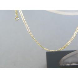 Zlatý náramok žlté zlato oválne očká DN18093Z 14 karátov 585/1000 0.93g