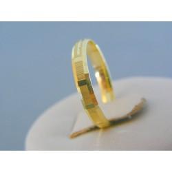 Zlatý prsteň ruženec žlté zlato DP56165Z 14 karátov 585/1000 1.65g