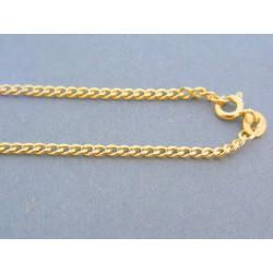 Zlatá retiazka vzor pancier žlté zlato  DR45292Z 14 karátov 585/1000 2.92g