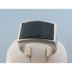 Pánsky prsteň ch. oceľ onyx DPO621170 316L 11.70g