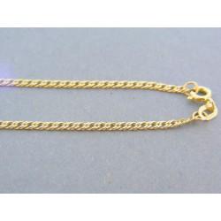 Zlatá retiazka dvojité očká žlté zlato VR42299Z 14 karátov 585/1000 2.99g