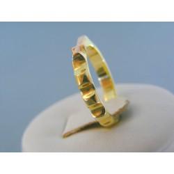 Zlatý prsteň ruženec žlté červené zlato DP55380V 14 karátov 585/1000 3.80g
