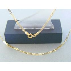 Zlatá retiazka oválne očká žlté zlato DR43185Z 14 karátov 585/1000 1.85g