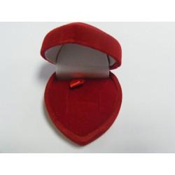 Zamatová krabička srdiečko červené F-75/A7