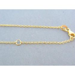 Zlatá retiazka s príveskom žlté biele zlato kamienok VR46364V 14 karátov 585/1000 3.64g