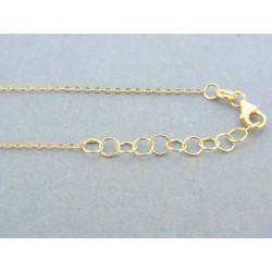 Jemná zlatá retiazka so srdiečkom žlté zlato VR45117Z 14 karátov 585/1000 1.17g
