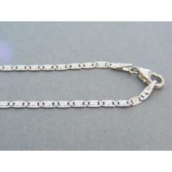 Zlatá retiazka biele zlato platničky jemný vzor DR45365B 14 karátov 585/1000 3.65g