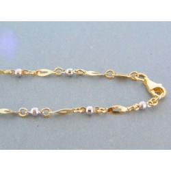 Zlatá retiazka žlté biele zlato zdobená DR45549V 14 karátov 585/1000 5.49g