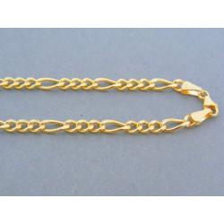 Zlatá retiazka žlté zlato vzor figáro DR545814Z 14 karátov 585/1000 8.14g