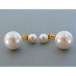 Náušnice ch. oceľ dámske perla napichovačky VAO522 316L 5.22g