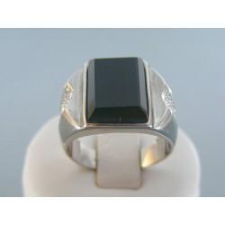 Pánsky prsteň ch. oceľ kameň onyx VPO651176 316L 11.76g