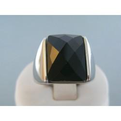 Prsteň ch. oceľ čierny kameň VPO651650 316L 16.50g