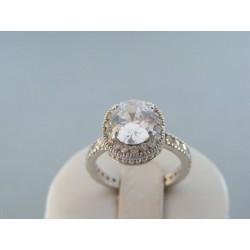 Strieborný dámsky prsteň celo kameňovi DPS56556 14 karátov 585/1000 5.56g