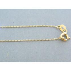 Zlatá retiazka dámska s príveskom kamienky žlté zlato DR44184Z 14 karátov 585/1000 1.84g
