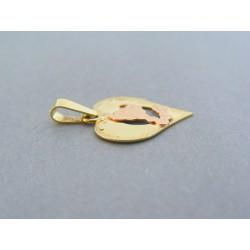 Zlatý prívesok srdiečko znamenie škorpión žlté červené zlato DI133V 14 karátov 585/1000 1.33g