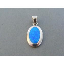 Strieborný prívesok dámsky kameň opál VIS392 925/1000 3.92g