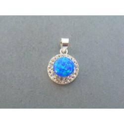 Strieborný dámsky prívesok s krásnym modrým opálom DIS122 925/1000 1.22g