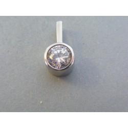 Ch. oceľ prívesok okrúhly zirkón DIO323 316L 3.23g