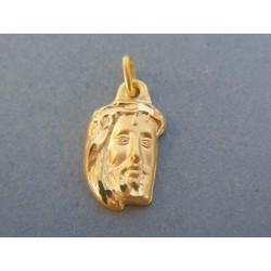 Zlatý prívesok hlava Ježiša žlté zlato DI136Z 14 karátov 585/1000 1.36g