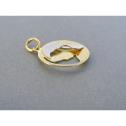 Zlatý prívesok sv. obrázok žlté biele zlato DI148V 14 karátov 585/1000 1.48g