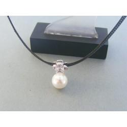 Strieborná retiazka perla šperkársky materiál kamienky DRS38468 925/1000 4.68g