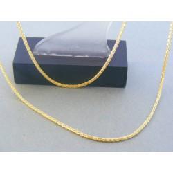 Zlatá retiazka žlté zlato zaujímavy vzor DR50281Z 14 karátov 585/1000 2.81g