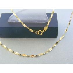 Zlatá retiazka žlté zlato zdobená DR45169Z 14 karátov 585/1000 1.69g