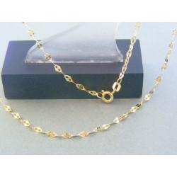 Zlatá dámska retiazka žlté zlato zdobená DR455192Z 14 karátov 585/1000 1.92g