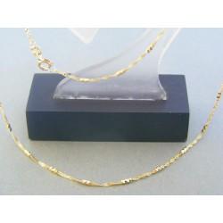Zlatá retiazka dámska žlté zlato zdobená DR45210Z 14 karátov 585/1000 2.10g