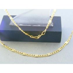 Zlatá retiazka žlté zlato zdobená DR45272Z 14 karátov 585/1000 2.72g