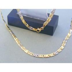 Zlatá retiazka žlté biele zlato vzor dolárovka DR50/1388V 14 karátov 585/1000 13.88g