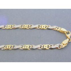 Zlatá retiazka žlté biele zlato zaujímavy tvar DR501272V 14 karátov 585/1000 12.72g