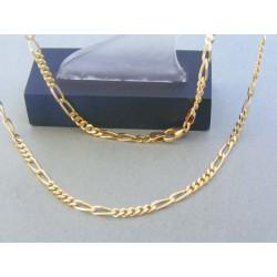 Zlatá retiazka žlté zlato vzor figáro VR50904Z 14 karátov 585/1000 9.04g
