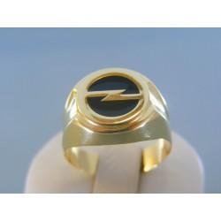 Zlatý pánsky prsteň žlté zlato znak auta DP66512Z 14 karátov 585/1000 5.12g