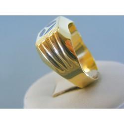Zlatý pánsky prsteň žlté zlato znak mercedes DP64409Z 14 karátov 585/1000 4.09g