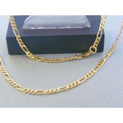 Zlatá retiazka žlté zlato vzor figáro DR501070Z 14 karátov 585/1000 10.70g