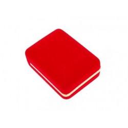 Zamatová krabička červená čierna CD-6/A7