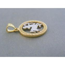 Zlatý prívesok znamenie strelec žlté biele zlato VI141V 14 karátov 585/1000 1.41g