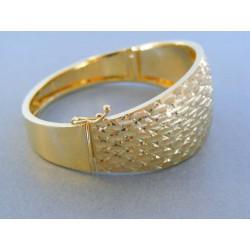 Zlatý dámsky náramok vzorovaný žlté zlato pevný DN1547Z 14 karátov 585/1000 15.47g