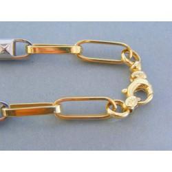 Zlatá pánska retiazka žlté biele zlato mohutný tvar DR642302V 14 karátov 585/1000 23.02g