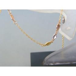 Zlatý dámsky náramok zdobený guličkami žlté biele červené zlato VN165153V 14 karátov 585/1000 1.53g