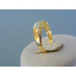 Zlatý dámsky prsteň žlté biele zlato vzorovaný VP55144V 14 karátov 585/1000 1.44g