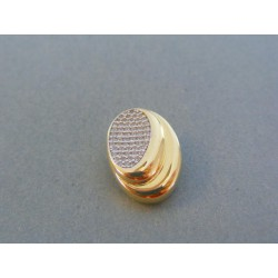 Zlatý dámsky prívesok žlté zlato číre zirkóny VI171Z 14 karátov 585/1000 1.71g